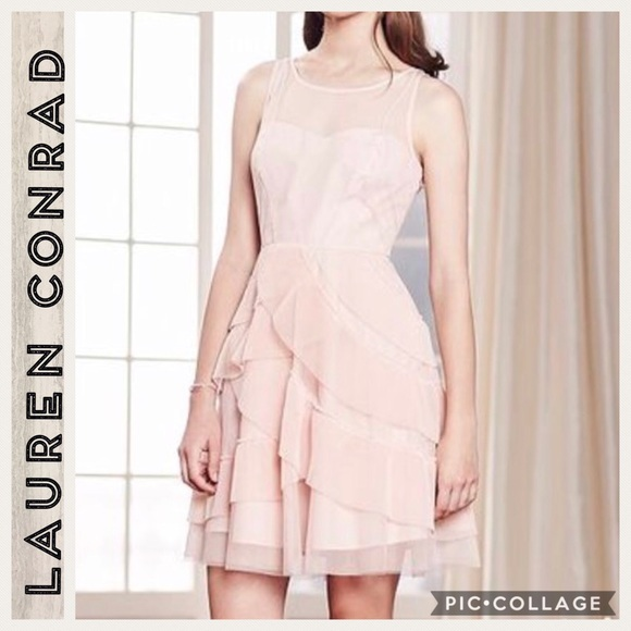 386ddb0eda8 💕Lauren Conrad💕Pale Pink Layered Dress💕Size 8💕